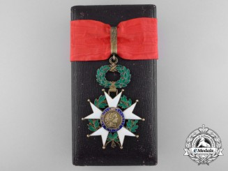 A French Legion D'Honneur; Commander with Case