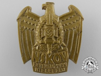 A Commemorative 1939 National Socialist War Victim's Care Badge; RZM Marked