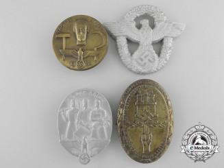Four Third Reich Period Badges & Tinnes