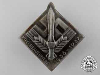 Germany, RAD. A 1936-1937 Kreisbauerntag Badge
