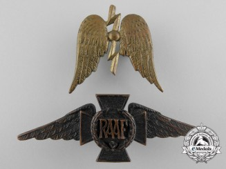 Two Royal Australian Air Force (RAAF) Insignia