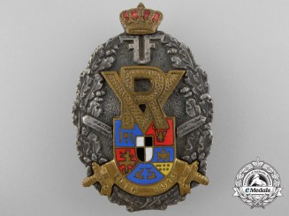 A Romanian First War Veteran's Breast Badge 1916-1919