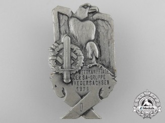 Germany, SA. A 1936 A-Gruppe Wettkampftage Competition Day Badge