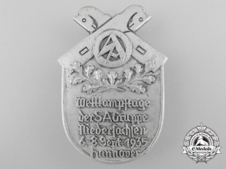 Germany, SA. A 1935 Hanover SA-Group Competition Day Badge