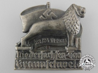 Germany, Wehrmacht. A 1934 Lower Saxony Day Badge