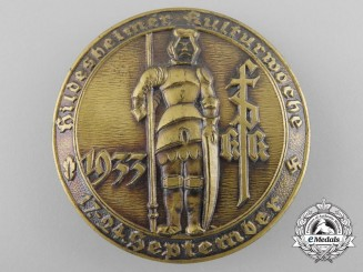 Germany, Wehrmacht. A 1933 Badge Celebrating Hildesheim Culture Week