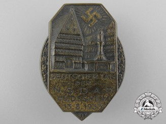 Germany, Wehrmacht. A 1933 NSDAP Hildescheim Day Badge
