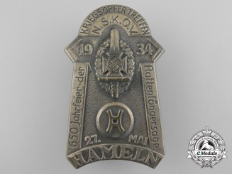 A 1934 Badge Commemorating the War Victims of the Town of Hameln