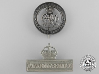 Two First War British Service Badges