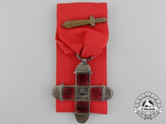 An Italian Second Army Commemorative Cross with Sword