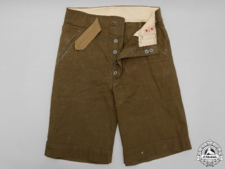 Second War German Africa Corps (DAK) M40 Tropical Shorts