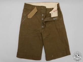 Second War German Africa Corps (DAK) M40 Tropical Shorts