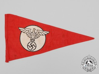 An Early NSDAP Car Pennant 1934-1935