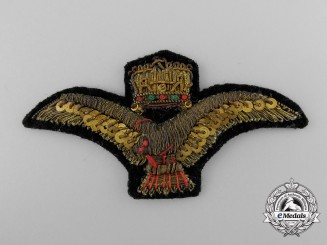 A Second War Hungarian Air Force Officer's Cap Badge