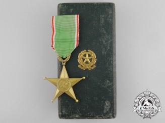 An Italian Order of the Italian Star of Solidarity; Third Class