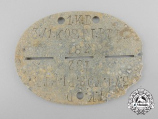 A Second World War Kosak Identification Tag