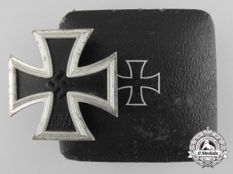 An Iron Cross First Class 1939 with Case by Wilhelm Deumer