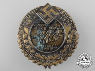 Germany, Wehrmacht. A 1937 Badge Celebrating Kreistagtreffen in Minden