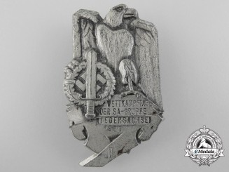 Germany, SA. A 1936 Hanover SA-Group Competition Day Badge