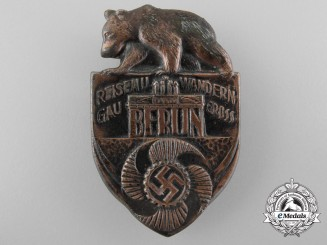 A 1930's Reichs Badge Commemorating Travel in Berlin