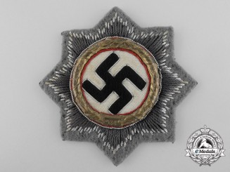 A German Cross in Gold; Cloth Version for SS/Sturmgeschuetz Units