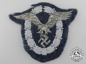 A Luftwaffe Pilot's Badge; Cloth Version