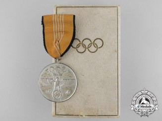 A 1936 Berlin XI Summer Olympic Games Medal with Case