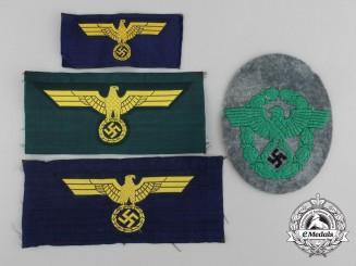 Four Cloth German Insignia