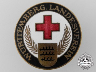 A Würtemberg Landesverein German Red Cross Badge by W. Mayer & Fr. W. Wilhelm