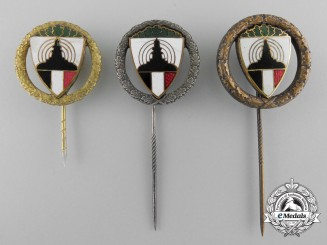Three Kyffhäuser League Veterans Association Shooting Award Stickpins