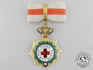 A Spanish Red Cross Decoration; First Class Commander
