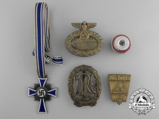 Five Second War German Badges, Awards, and Insignia