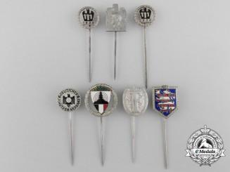Seven Second War Period German Stickpins