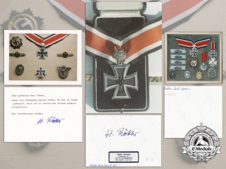 Three Post-War Signed Photographs of Knight's Crosses Recipients Awards