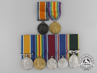 A Father and Son Medal Grouping; Canadian Field Artillery and First Hussars