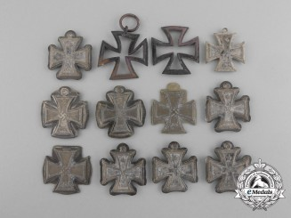 Twelve Miniature Iron Crosses Recovered from the Destroyed Zimmermann Factory