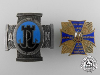 A Set of Two Polish Badges