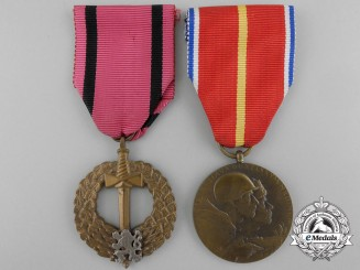 Czechoslovakia. Two Medals & Awards