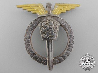 A Czechoslovakian Socialist Air Force Pilot Badge; 3rd Class