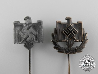 Germany. Two  NSDAP League of the Reich for Physical Exercise Performance Stickpins