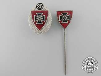 Two German Veteran Organization Stickpins