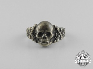 A Second War German Skull Ring in Silver