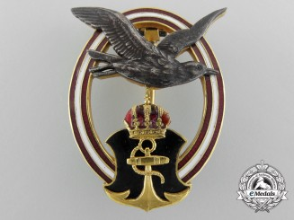 An Austrian Navy Pilot's Badge; 1950's Production