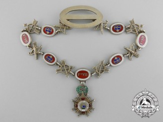 A Miniature Spanish Order of Isabella the Catholic Collar