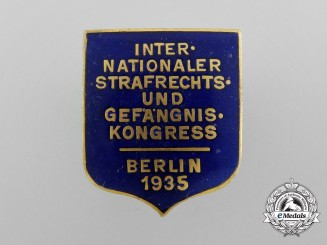 Germany. A 1935 International Criminal Law and Prison Congress Badge