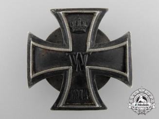 An Iron Cross First Class 1914; 800 Silver & Screw Back
