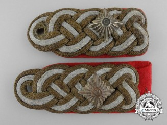 The Shoulder Boards Pair from the Estate of Generalleutnant Rudolf Schubert