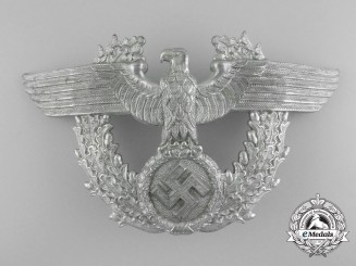 A Second War Period German Police Shako Plate