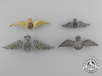A Lot of Four Second War Royal Air Force Sweetheart Wings