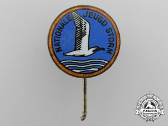 A Dutch National Youth Storm (Nationale Jeugdstorm = NJS) Membership Stickpin